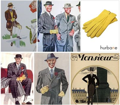 leather gloves for man yellow