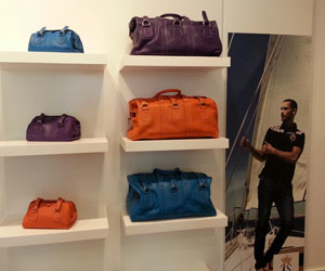colored luxury leather goods