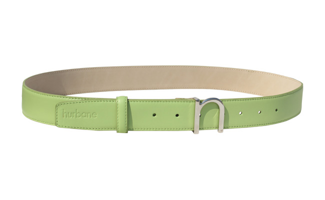 Men's leather belt Tropical Green - Pointed buckle