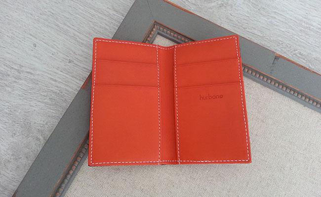 Portefeuille homme format porte cartes cuir couleur orange bonze portefeuille orange hurbane - Porte carte cuir homme luxe ...