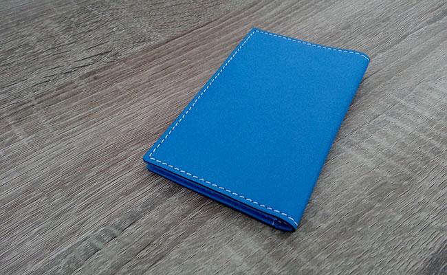 Portefeuille cuir Homme - Modèle porte-cartes - Couleur Bleu Artic ... 5c4512e7d19