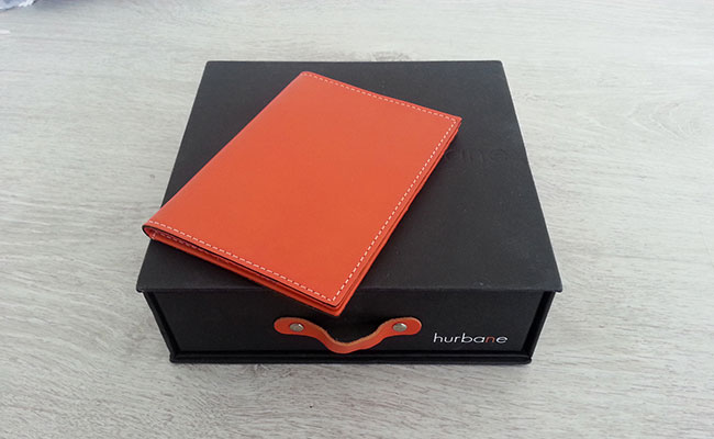 Men's Wallet - Passport holder wallet - Monastic orange leather