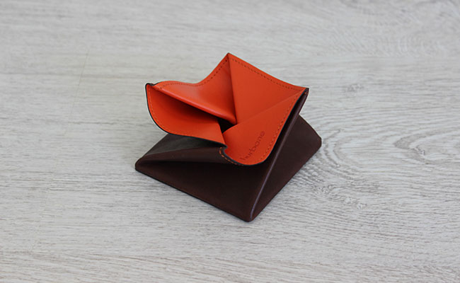 Leather small coin purse - Origami model - Row Brown and ... - photo#50