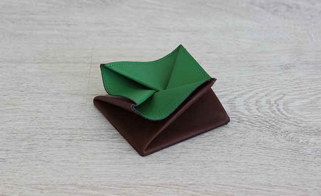 Origami leather coin purse - Row Brown and Bunker Green ... - photo#17