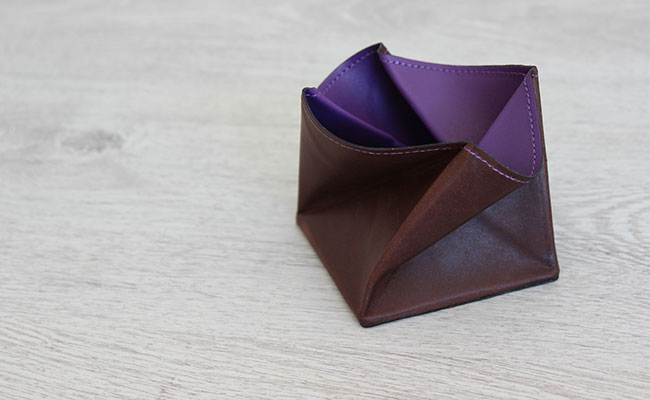 Origami leather coin purse - Row Brown and Ultra Violet ... - photo#6
