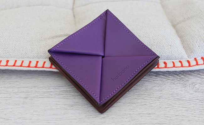 Origami leather coin purse - Row Brown and Ultra Violet ... - photo#38
