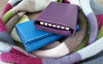 Men's leather key case - Ultra Violet