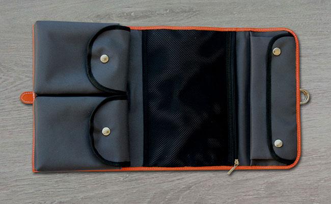 s toilet bag monastic orange leather toilet bag orange hurbane