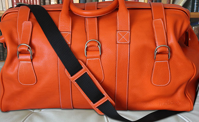 sac de voyage cuir homme hurbane orange bonze sac de voyage orange hurbane. Black Bedroom Furniture Sets. Home Design Ideas