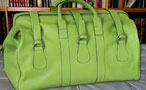 Men's calfskin travel bag - Tropical Green