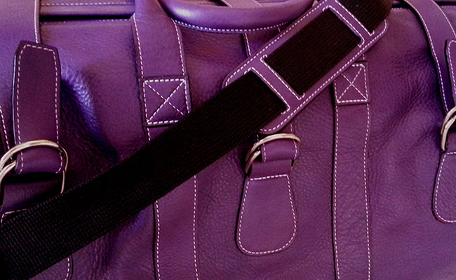 Men's calfskin travel bag - Ultra Violet