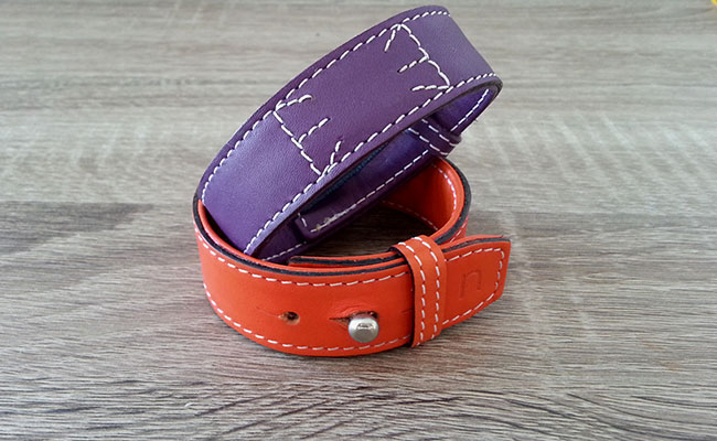 Timeless, Monastic orange leather strap for Men